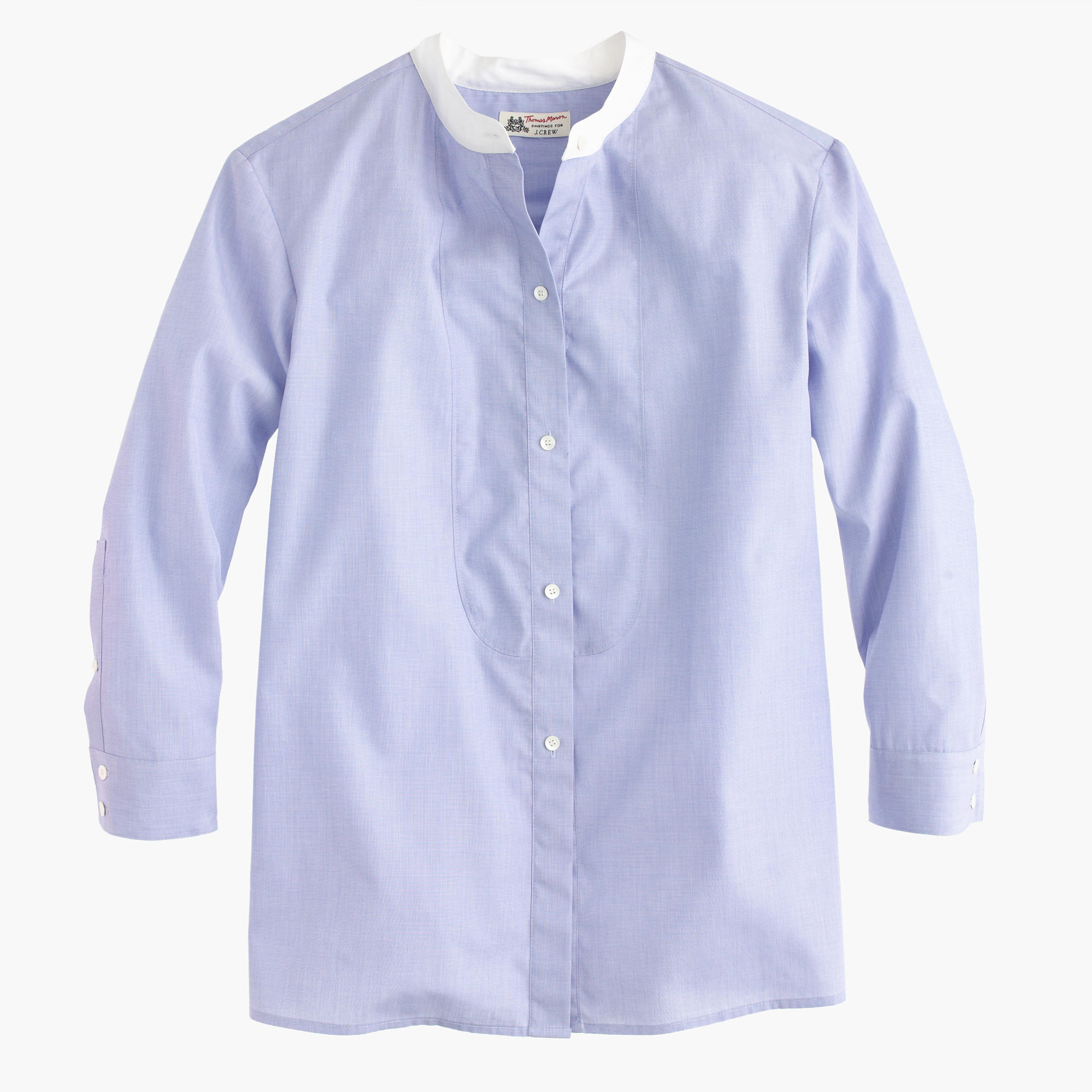 thomas mason for j crew collarless shirt   women u0026 39 s shirts