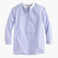 Thomas Mason® for J.Crew collarless shirt