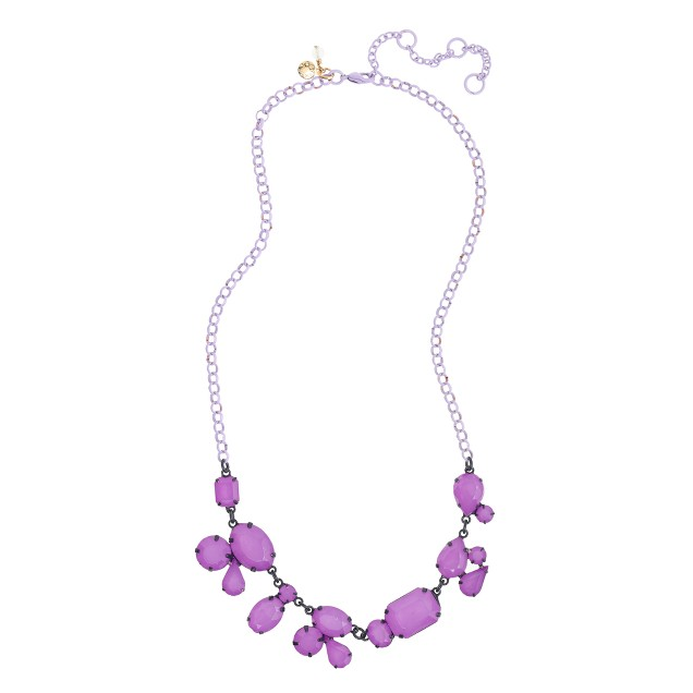 Girls' monochrome stone necklace
