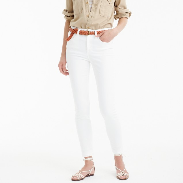 "9"" high-rise toothpick jean in white"