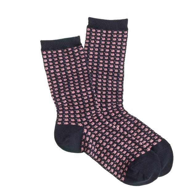 Geo trouser socks