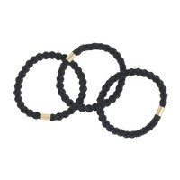 Twisted elastic hair tie pack