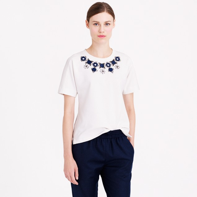 Structured necklace T-shirt