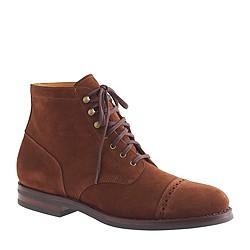 Ludlow suede cap-toe boots