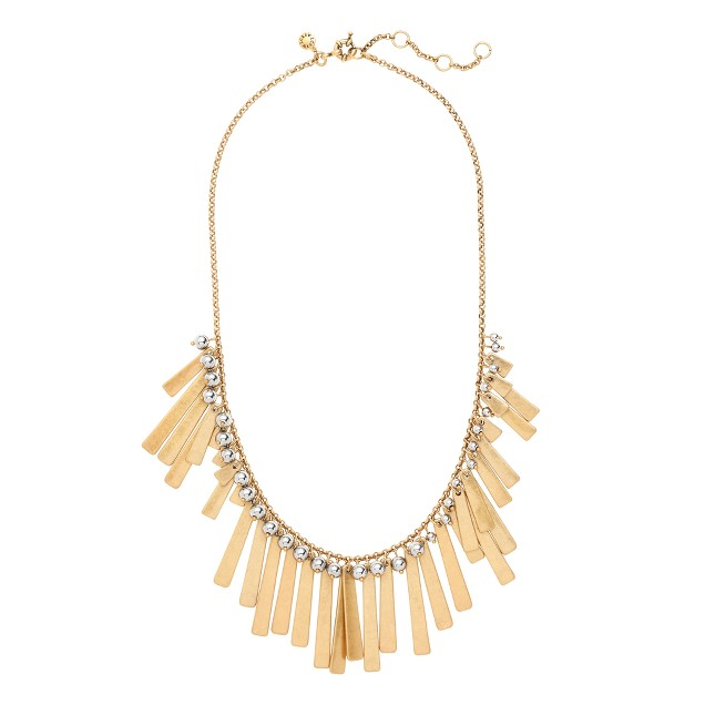 Asymmetrical fringe necklace