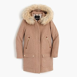 Tall chateau parka in stadium-cloth