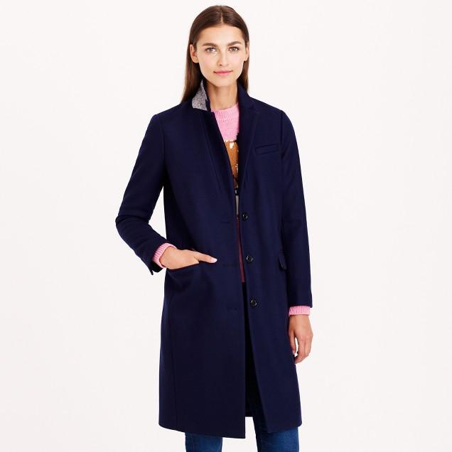 Wool melton topcoat