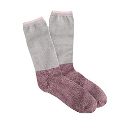 Long marled two-tone trouser socks