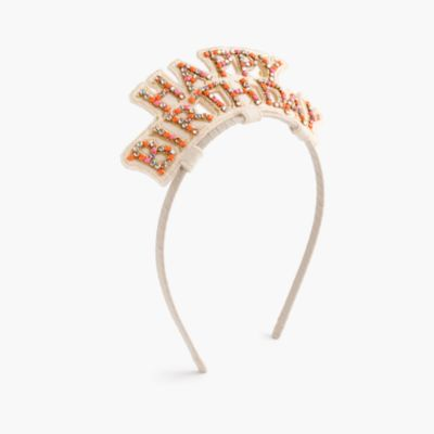 Girls' happy birthday headband
