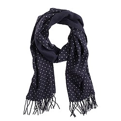 Cashmere scarf in dot