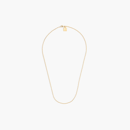 "Jennifer Fisher® for J.Crew 18"" 10k gold small oval-link chain"