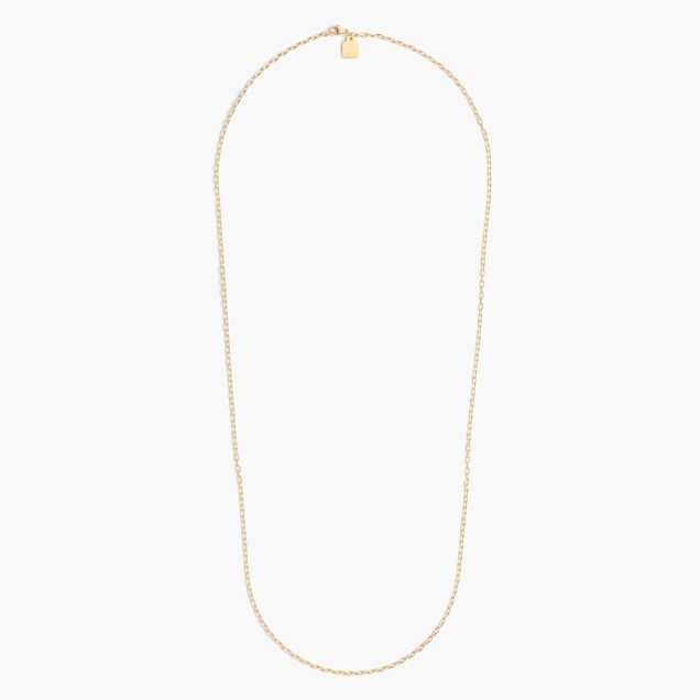 "Jennifer Fisher® for J.Crew 30"" 10k gold oval-link chain"
