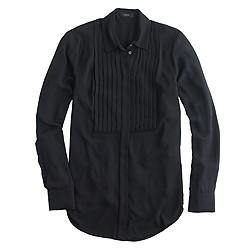 Petite drapey tuxedo top