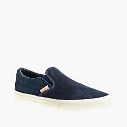 Vans® classic slip-on sneakers in textured suede