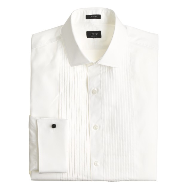 Ludlow pleated tuxedo shirt