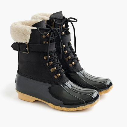 Women's Sperry® for J.Crew Shearwater buckle boots in black