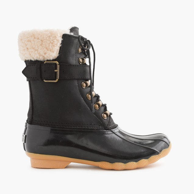Women's Sperry For J.Crew Shearwater Buckle Boots In Black ...