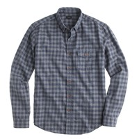 Brushed twill shirt in tonal gingham