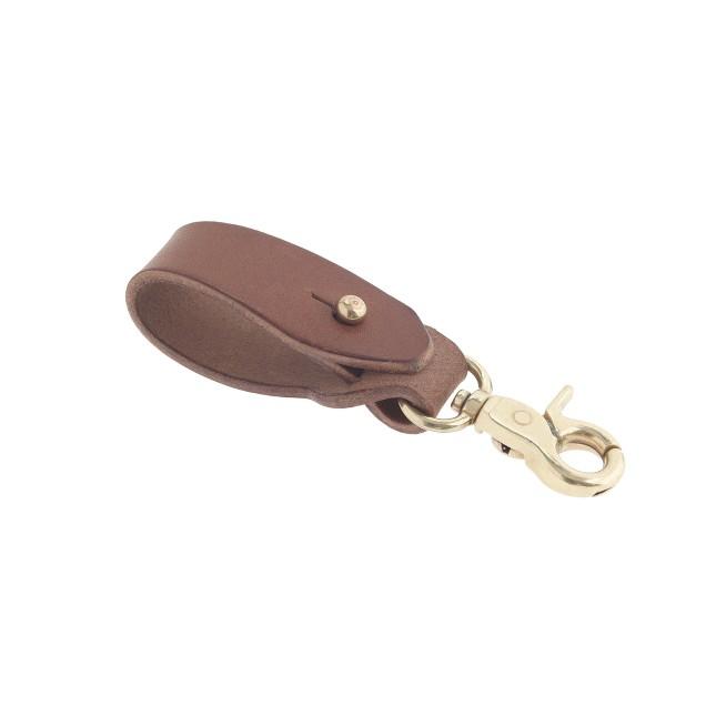 Leather turn-through key fob