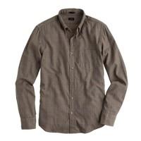 Slim soft heather twill shirt in glen plaid