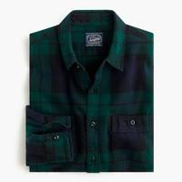 Herringbone flannel shirt in black watch plaid j crew for Black watch plaid flannel shirt