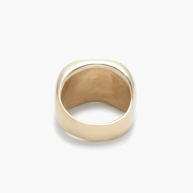James Colarusso™ 14k gold small concave ring
