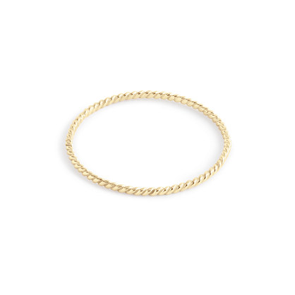 Catbird™ 14k gold twisted stacker ring