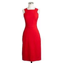 Cutout dress in Italian stretch wool