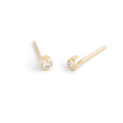 Catbird™ 14k gold diamond elfin stud earrings