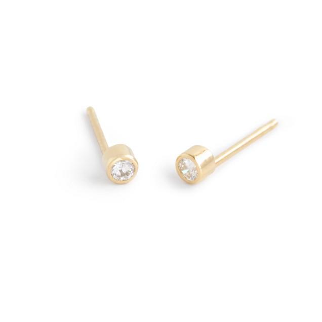 Catbird™ 14k gold diamond elfin stud earrings