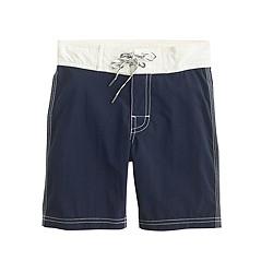 Boys' board short with contrast pocket