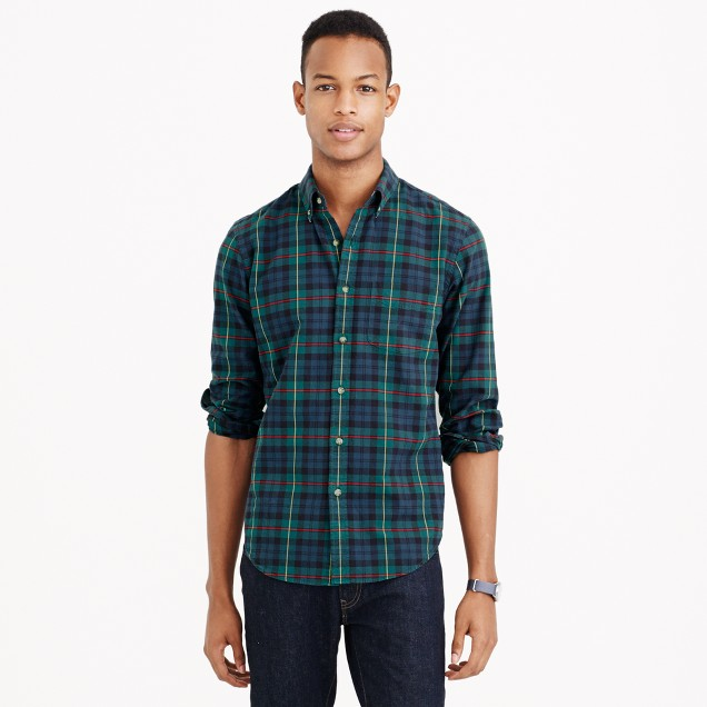 Vintage oxford shirt in heather plaid