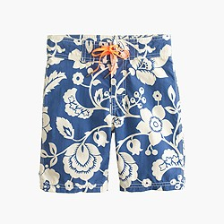 Boys' board short in big island floral