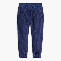 Girls' slim slouchy sparkle pant