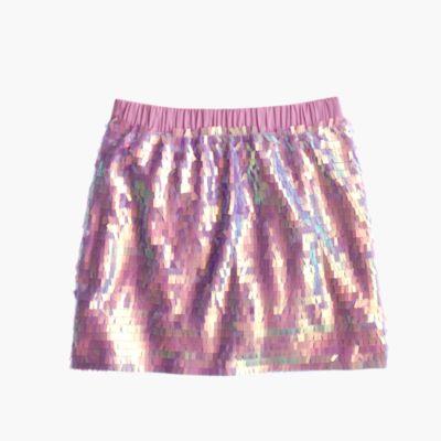 Girls' mermaid sequin skirt : Girl skirts | J.Crew
