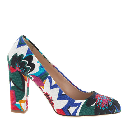 Stella printed fabric pumps