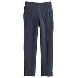 Tall back-zip pant in bonded crepe