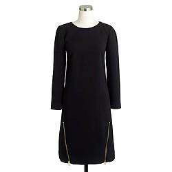 Petite double-zip shift dress