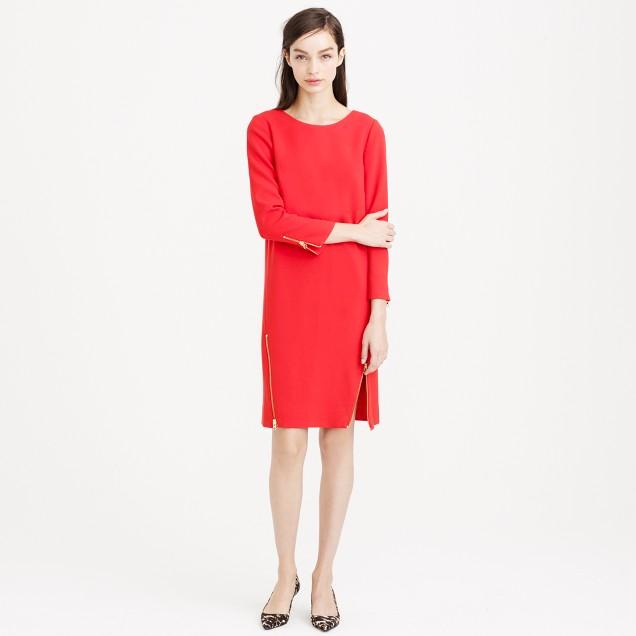 Double-zip shift dress