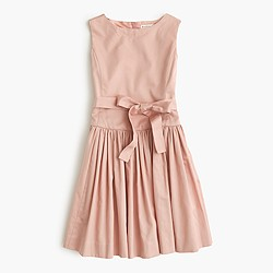 Girls' sateen bow dress