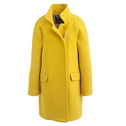 Stadium-cloth standing-collar coat