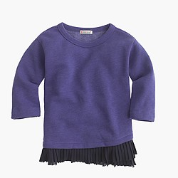 Girls' ruffle-hem sweatshirt