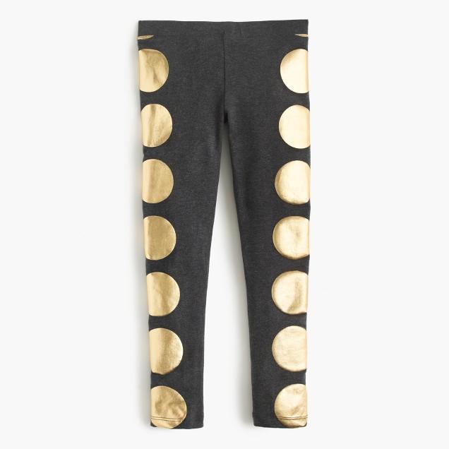 Girls' everyday leggings in foil dot
