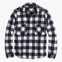 Buffalo check shirt-jacket