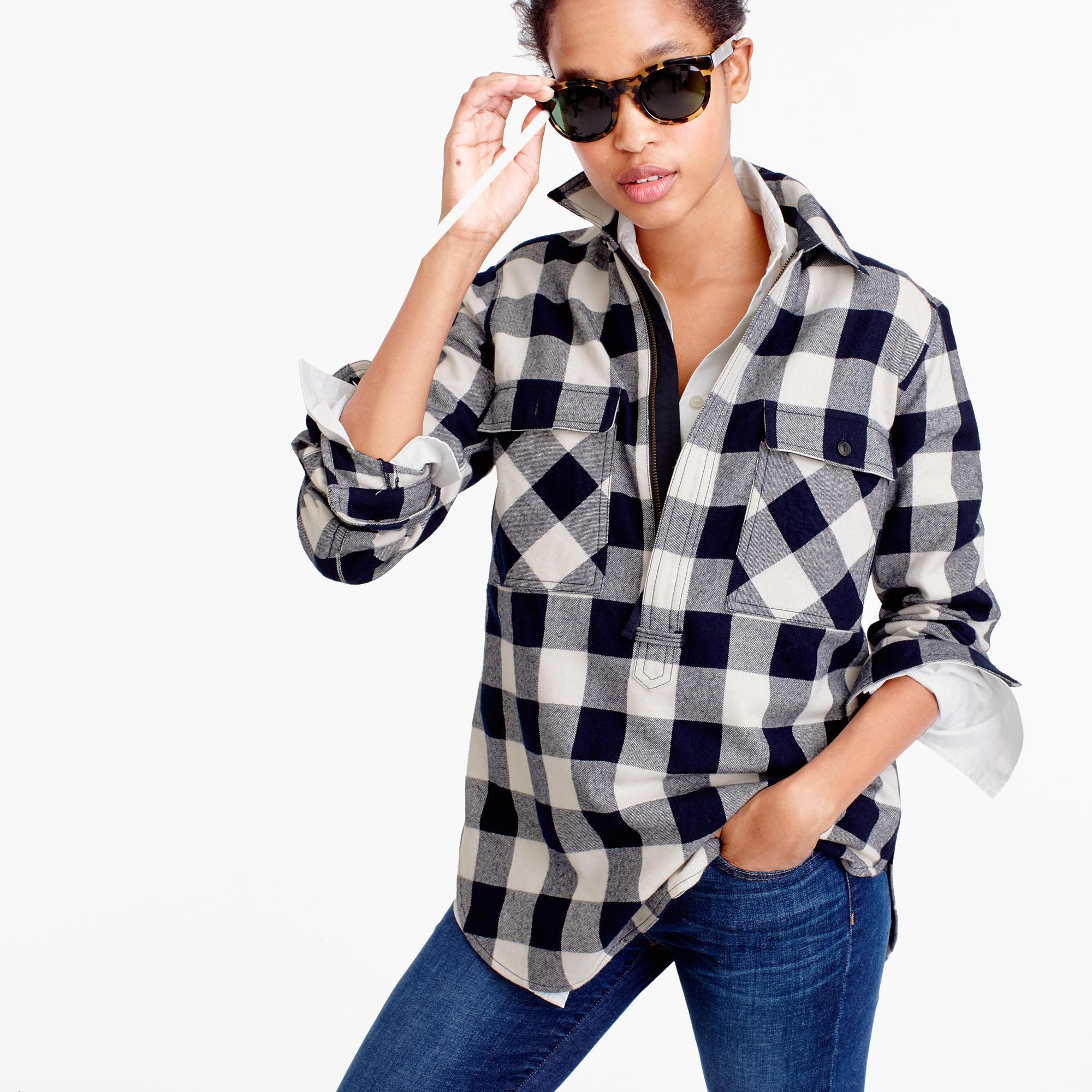 Buffalo Check Shirt-Jacket : Women's Tops | J.Crew