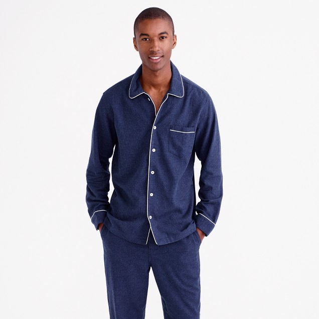 Heathered flannel pajama set