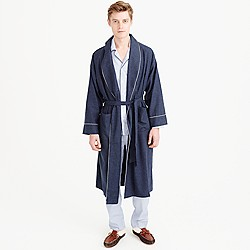 Heathered flannel robe