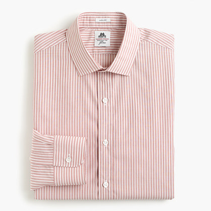 Thomas Mason® for J.Crew Ludlow shirt in gatlin green stripe