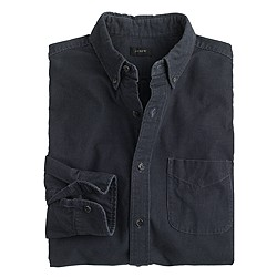 Fine-wale corduroy shirt