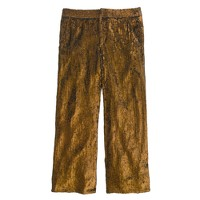 Collection cropped wide-leg trouser in sequin